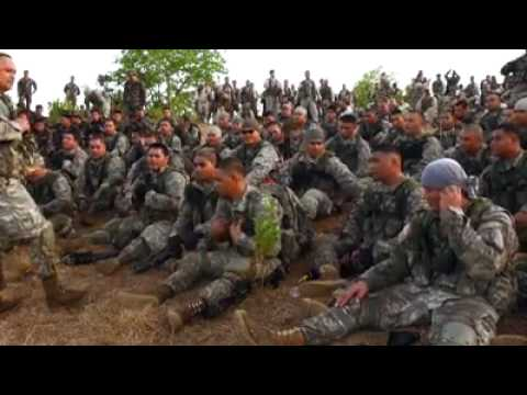 Samoan soldiers singing