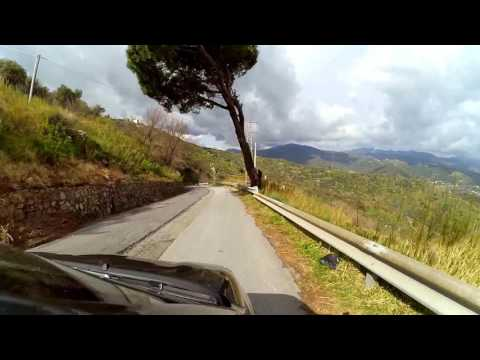 Driving down from Forza d'Agro, Sicily