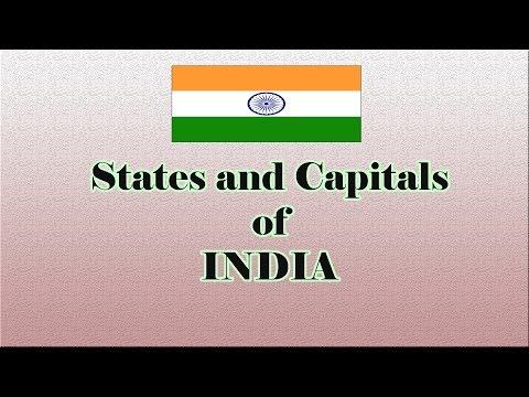 भारत के राज्य और उनकी राजधानियाँ - States and capital of india in hindi