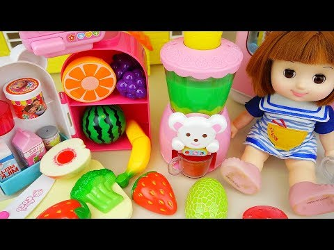 Thumbnail: Fruit juice maker and baby doll kitchen food toys play