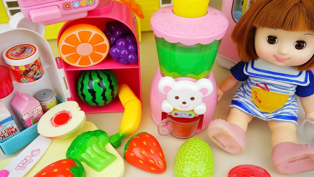 Fresh juice and fruits in hd photos cute babies photos collection - Fruit Juice Maker And Baby Doll Kitchen Food Toys Play