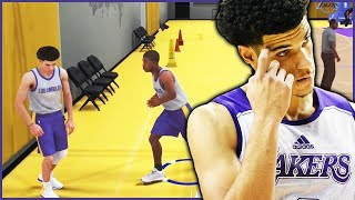 NBA 2K18 My Career Ep.2 - BEEFING WITH LONZO BALL AT MY FIRST PRACTICE!