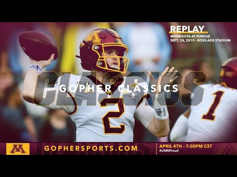Watch Live: Gopher Football Wins At Purdue 38-31 (Gopher Classics)