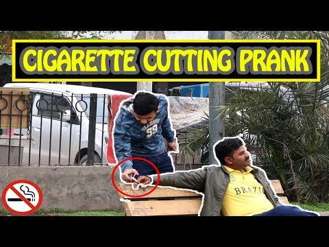 Cutting People's Cigarettes Prank | By Mirchi Prank Tv