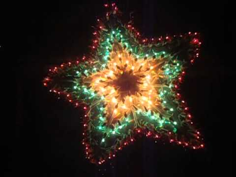 christmas star lights multi colored bulbs star shaped christmas lights