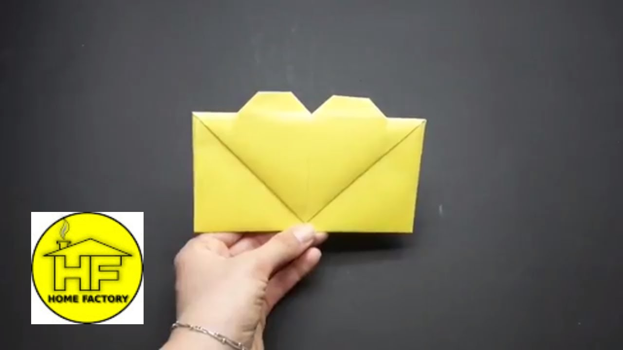 how to make envelope out of hearts