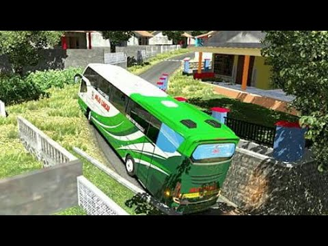 Bus Avante masuk perkampungan gang sempit -- ets2 indonesia - 동영상