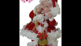 modele tricotate caciulite si craciunita copii