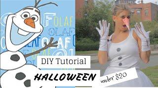 Halloween Olaf DIY Costume Under $20!