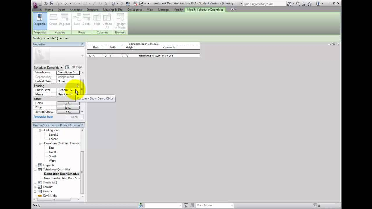 Revit architecture 2011 beginner tutorial 9 (curtain systems.
