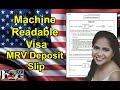 MACHINE READABLE VISA APPLICATION FEE | MRV DEPOSIT SLIP | How to Download!