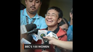 Gambar cover Maria Ressa among BBC's 100 'inspiring and influential' women of 2019