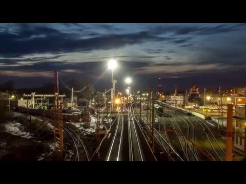 Tver, Russia, Spring 2016. Timelapse