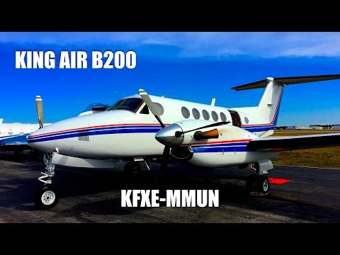 Beechcraft Super King Air B200 - Fort Lauderdale to Cancun (FULL FLIGHT)