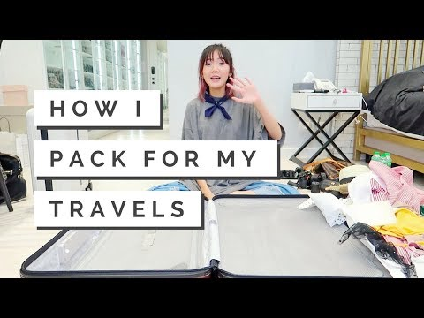 How I Pack My Suitcase (Travel Packing Tips) | Camille Co