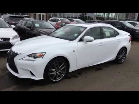 Ultra White on Black 2015 Lexus IS 350 AWD F Sport Series 3 Review - South Edmonton