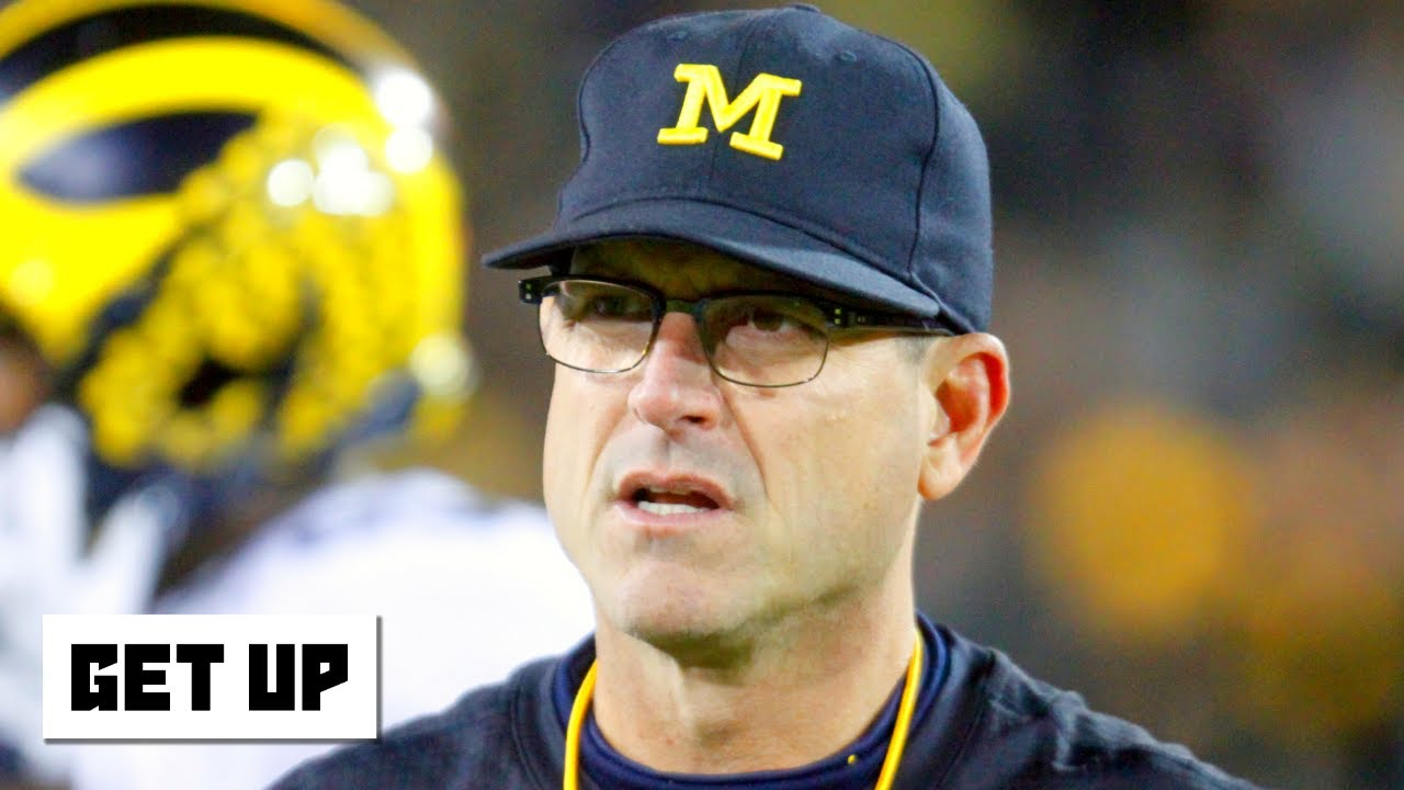 Jim Harbaugh proposes undrafted players should be able to return to college | Get Up
