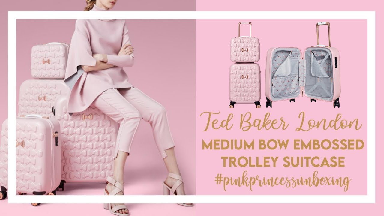 "f6fca63c8 UNBOXING  4   TED BAKER LONDON 22"" BOW EMBOSSED TROLLEY SUITCASE + FIRST  IMPRESSION"
