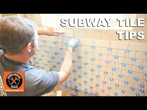 How To Tile A Shower Wall...Subway Tile Tips On A Window Wall -- By Home Repair Tutor