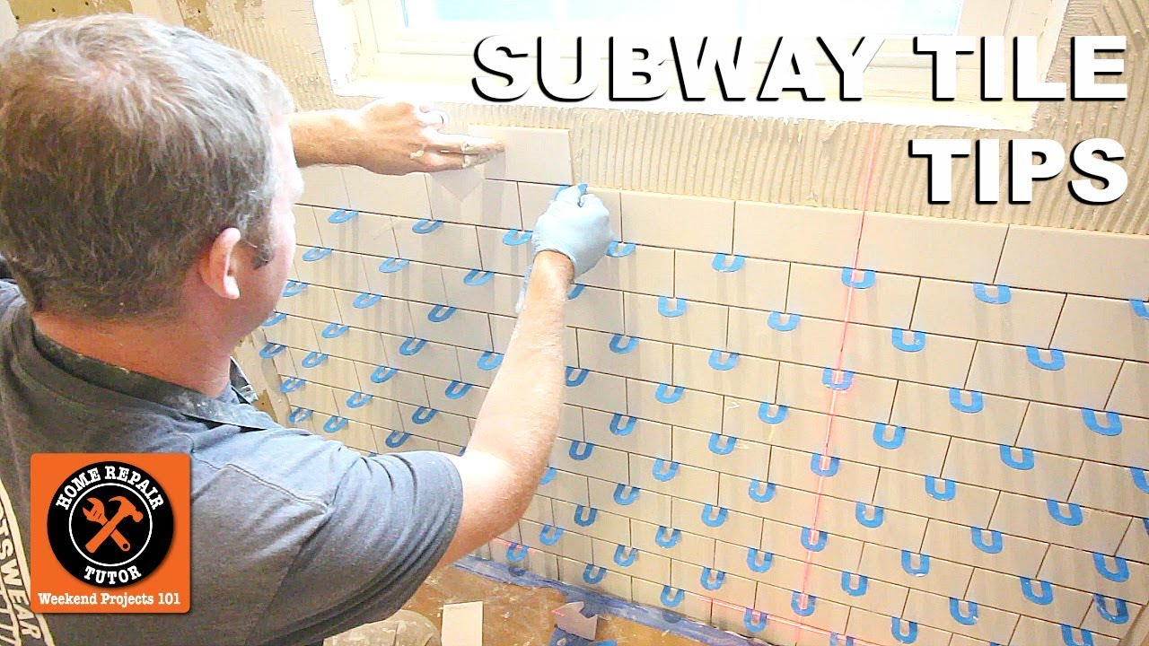 how to tile a shower wall subway tile tips on a window wall by home repair tutor