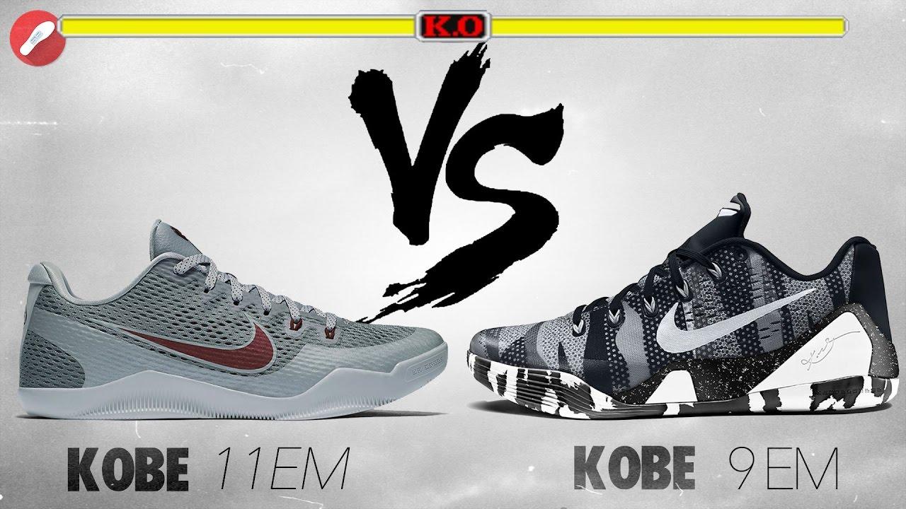 save off 0f47e 7027f Nike Kobe 11 EM vs Kobe 9 EM! THROWBACK!
