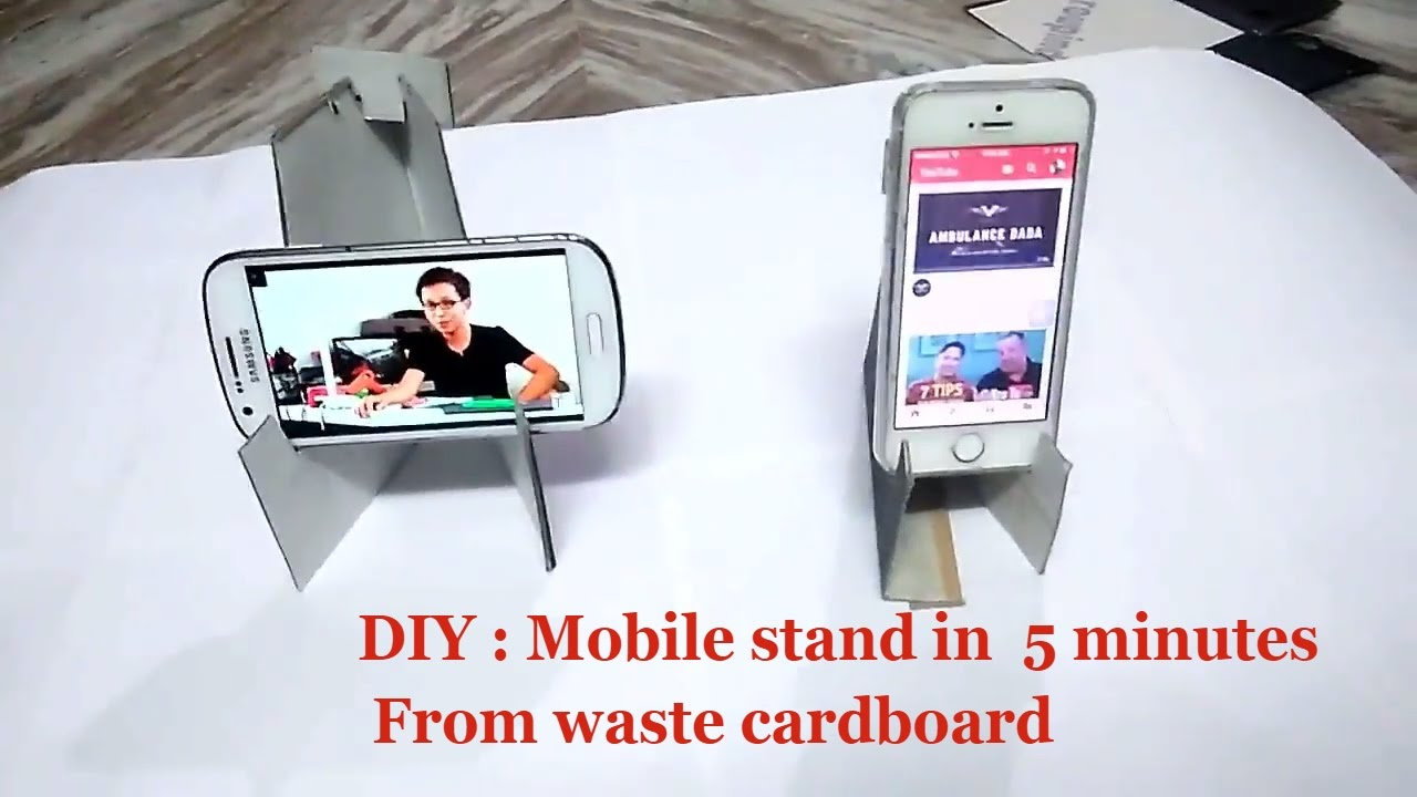 Diy Craft Mobile Phone Stand For Desk How To Make Holder Display You