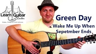 Wake Me Up When September Ends - Acoustic Guitar Tutorial - Green Day
