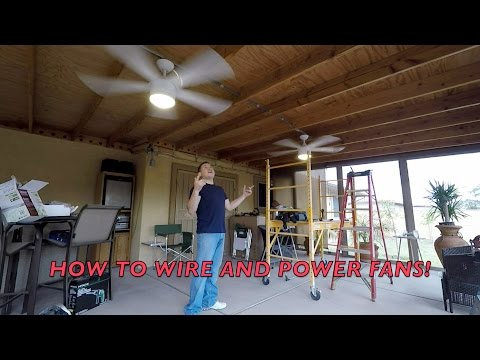 HOW TO INSTALL OUTSIDE CEILING FANS ***WITH CONDUIT*** DIY!!!