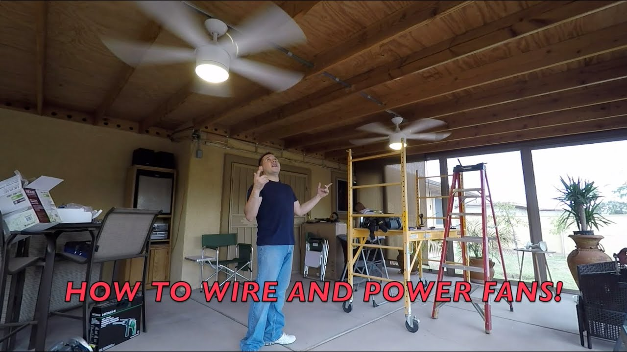 HOW TO INSTALL OUTSIDE CEILING FANS WITH CONDUIT DIY