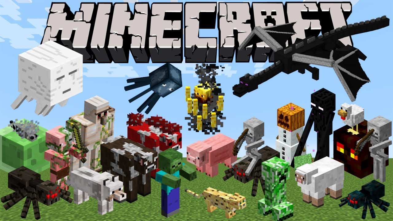 minecraft monster animal zoo mobs animals monsters characters every los personajes names todos monstruos