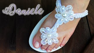 Chinelo Decorado com Pérolas