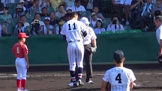甲子園レジェンド始球式 中西太さん(第100回全国高校野球選手権記念大会準々決勝始球式)