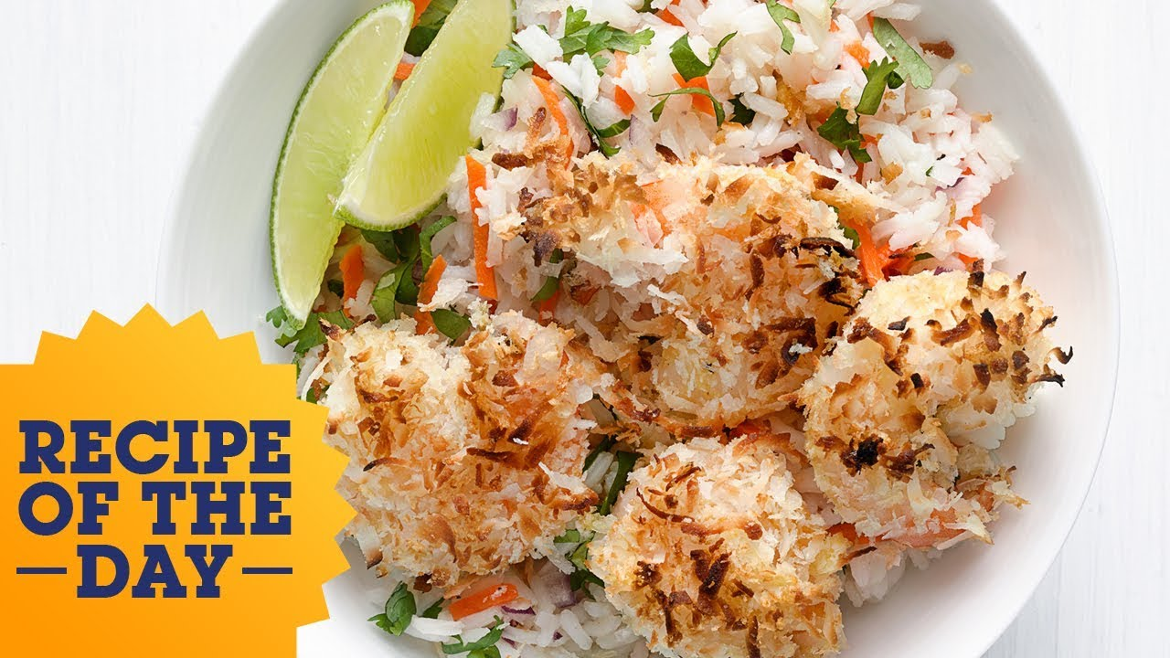 Recipe of the day coconut shrimp with tropical rice food network recipe of the day coconut shrimp with tropical rice food network forumfinder Choice Image