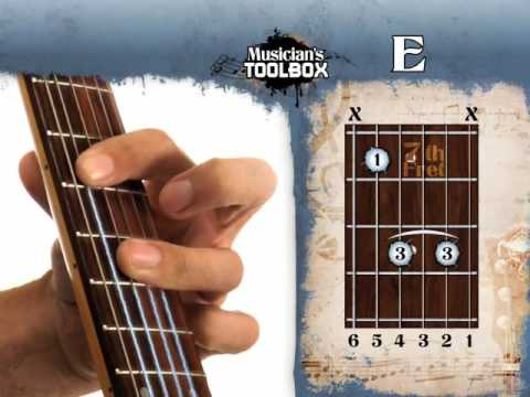 How To Play The E Barre Chord On Guitar E Bar Chord With The Root On