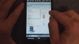 HTC HD2: Remote Desktop Mobile