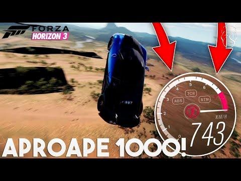 Cum sa prinzi 1000km/h in Forza Horizon 3!