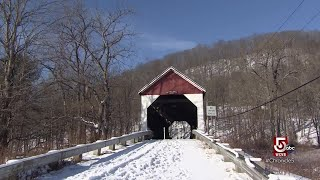 Covered bridges curiosities and fresh apples year round