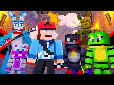 Minecraft FNAF 6 Pizzeria Simulator HIDE AND SEEK - NEW ANIMATRONICS!?! (Minecraft Roleplay)