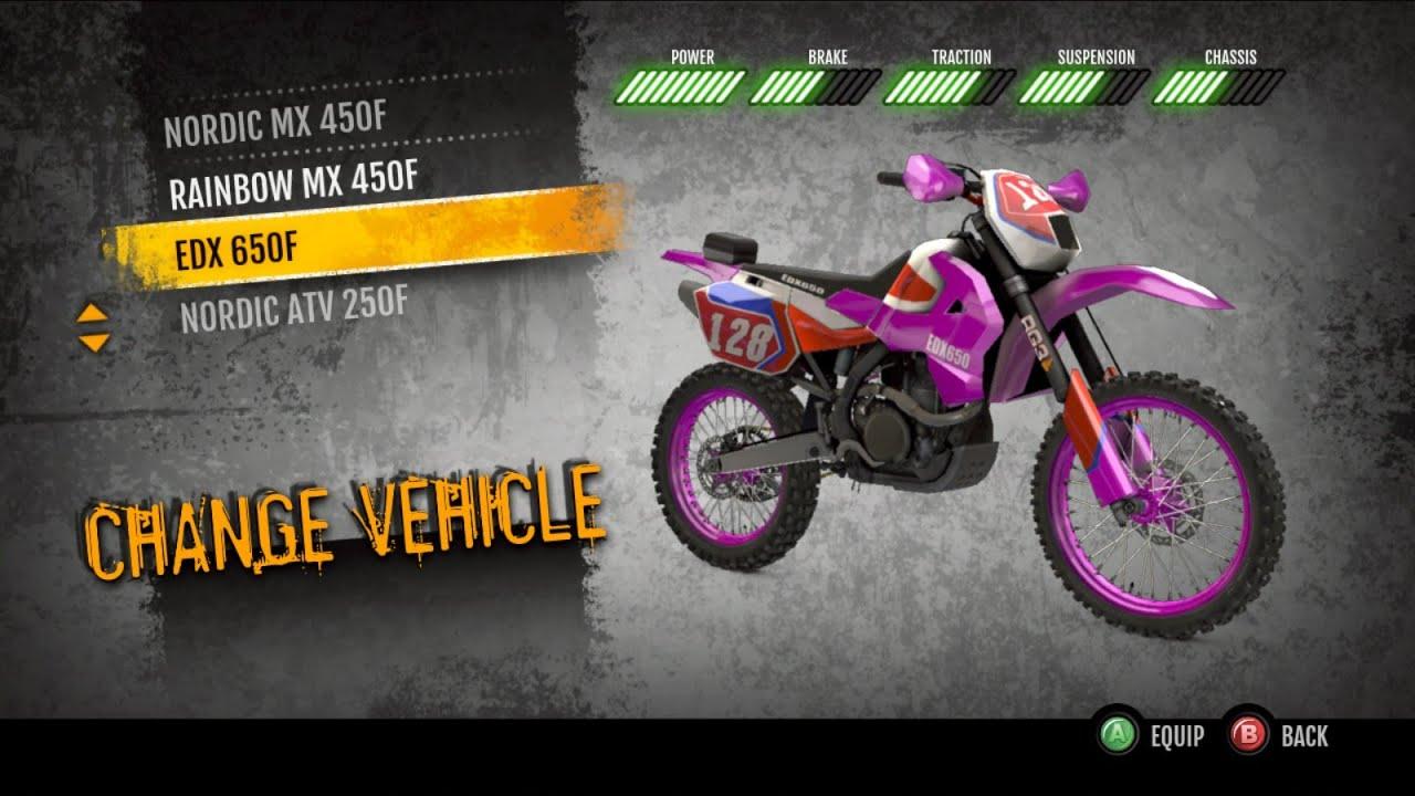 MX vs. ATV Supercross Encore 650 Bike Gameplay