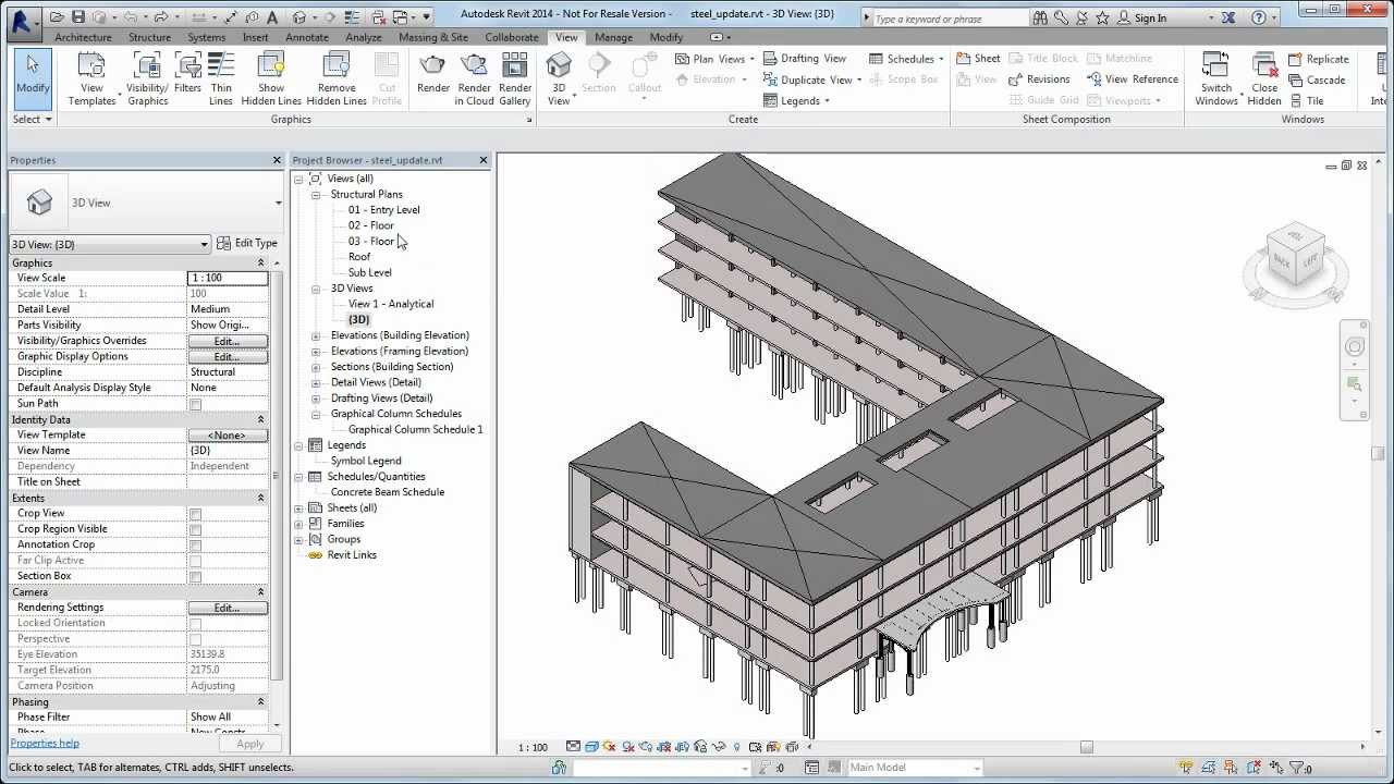 Autodesk Revit: Upgrading Steel Framing Families in Legacy Projects ...