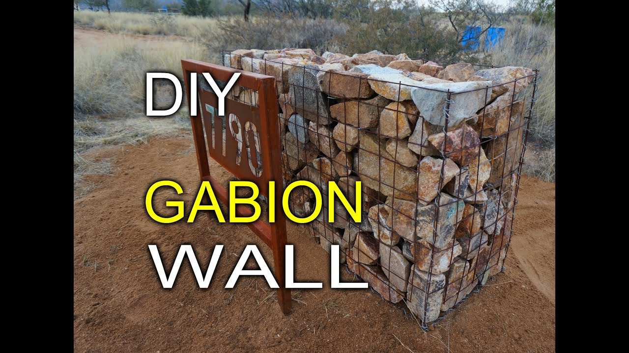 diy gabion walls youtube - Gabion Walls Design