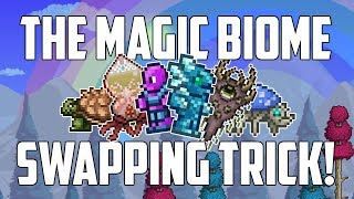 Terraria MAGIC BIOME SWAPPING TRICK! Farm multiple biomes easily! | PC | Console | Mobile