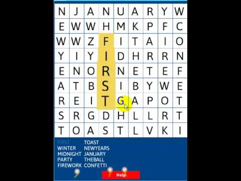 New Year S Day Word Search Abcya Games Youtube