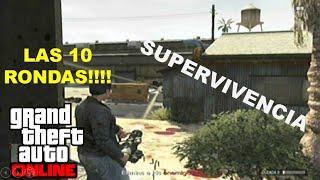 Mauricio Lewis - GTA ONLINE - Supervivencia Ferroviaria - LAS 10 RONDAS!!!!!