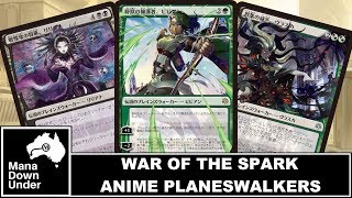 MTG War of the Spark Promo - Anime/Japanese Planeswalkers (Amazing Alt Art - Magic: The Gathering)