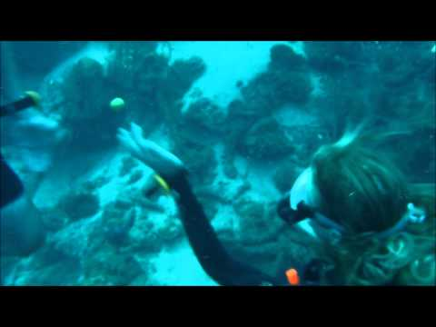 What happens to a glass jar or an egg at 100 feet underwater?