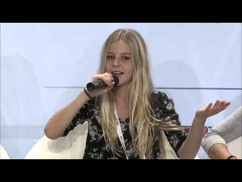 Junior Eurovision 2014 at Malta. PBS Press Conference of Julia Kedhammar from Sweden
