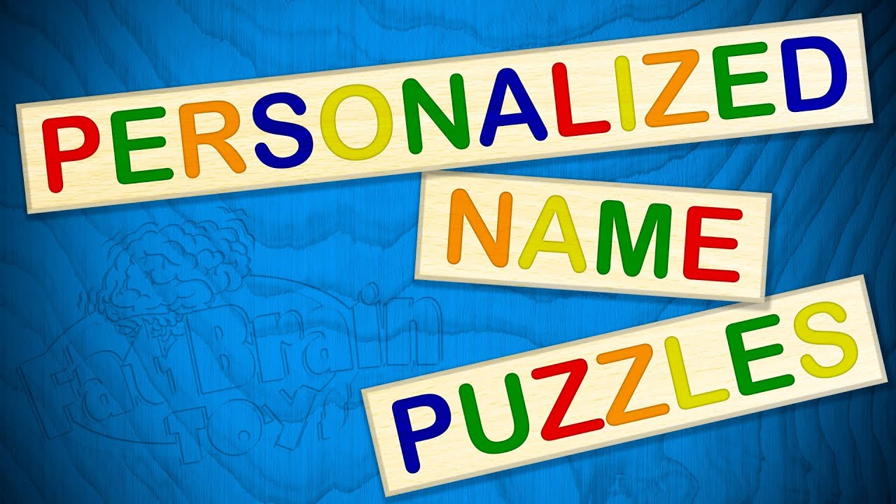 personalized name puzzles from fat brain toys youtube