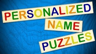 Personalized Name Puzzles From Fat Brain Toys