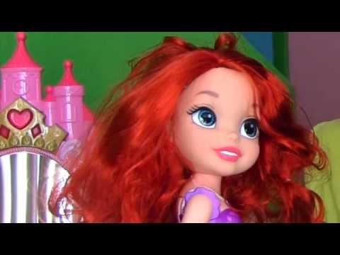 Disney Princess Sing & Shimmer Tabletop Vanity Ariel Makeover!  || Disney Toy Reviews || Konas2002